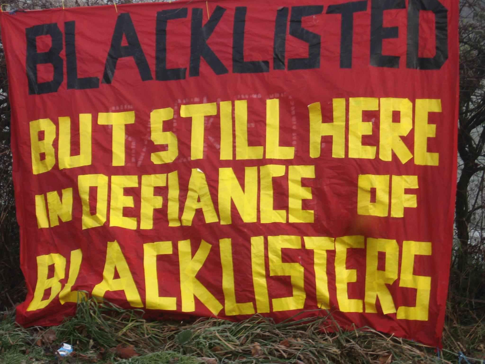Steve A Blacklist protest