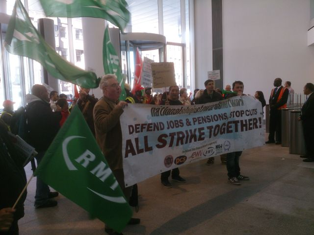 Strikers occupy ITV offices