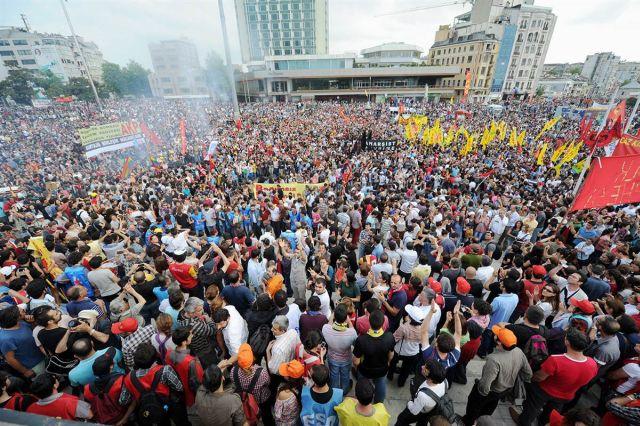 Protest in Taksim Square, June 2 2013.