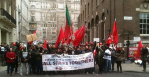 NSSN supporters join 3 Cosas strikers