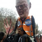 Grayling joins the protest by piggy back!