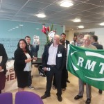 RMT Assistant General Secretary Steve Hedley questions ISS HR heads.