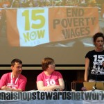 Ginger Jentzen, organiser from 15 Now campaign on the struggle for a living wage in the US.