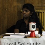 Tamil Solidarity was one of the organisations present at the conference.