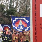 The march reaches Bucks Fire Authority HQ