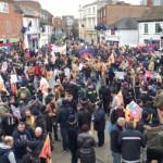FBU rally fills Aylesbury town square