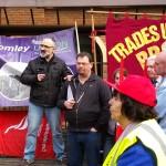 Unite regional officer opens strike rally