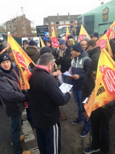 West Midlands FBU protest
