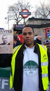 Glen on Dec 9 RMT Clapham Common protest