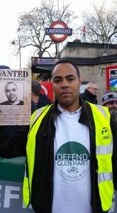 Glen on Dec 9 RMT Clapham Common protest