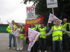 BFAWU picket line at Hovis Wigan 2013