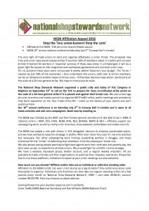 NSSN conference & affiliation letter
