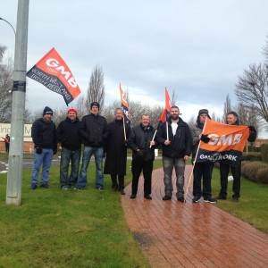Warrington picket line