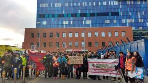 Royal London picket line on February 10 strike