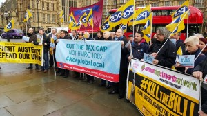 PCS HMRC lobby March 1