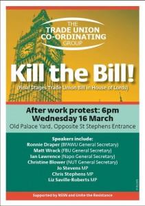 kill the bill march 16