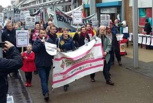 NSSN organised #NationaliseTata protest in Port Talbot April 2nd