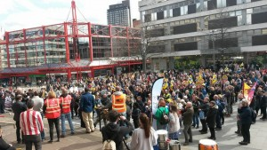 PCS demo against closure of BIS Sheffield April 9