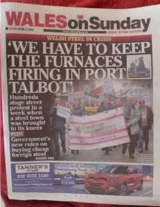 Report of April 2 protest in Wales on Sunday