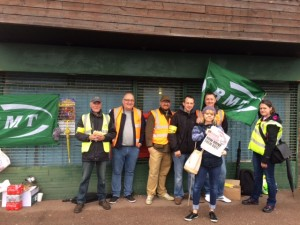 Southern Train picket line at Portsmouth