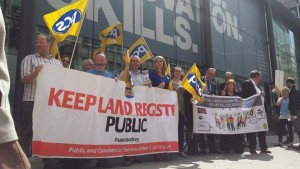 Land Registry PCS members present petition