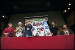 United Voices of the World union members talk about their indefinite strike at NSSN Conference