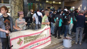 NSSN supporting Deliveroo strike