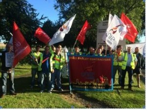 Fawley workers on July 14 strike