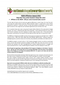 NSSN Affiliation Appeal 2016