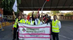 Westbourne Park picket line on the Friday strike