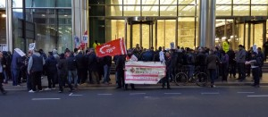 Construction workers Crossrail walkout November 25 2016
