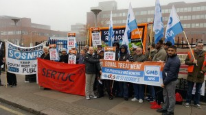 GMB picket at St George's Hospital