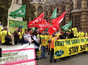 RMT lobby of Parliament November 1st