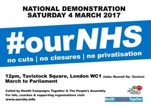 #OurNHS demo March4