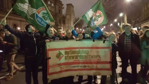 NSSN with RMT on Jan 30 Downing St anti-Trump protest