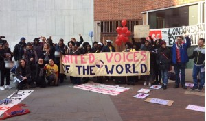 United Voices of the World union cleaners LSE picket