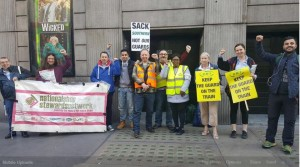 Victoria Picket on RMT April 8th joint strike against DOO
