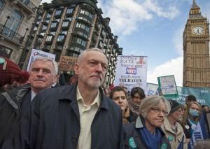 Jeremy Corbyn & John McDonnell on BMA/NUT joint London demonstration April 2016