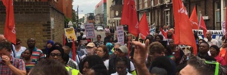 Unite strike rally at Royal London July 4th