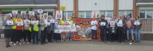 Sheffield Eastern Avenue Job Centre picket June 2nd