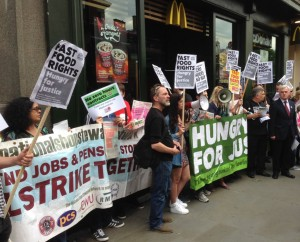 John McDonnell on May 2014 global fast food rights day of action