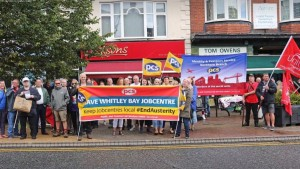 PCS strike and protest to save Whitely Bay job centre August 12th supported by NSSN North East