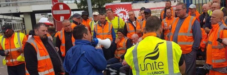 NSSN chair Rob Williams supporting bin strike