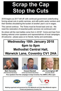 Coventry Scrap the cap meeting leaflet