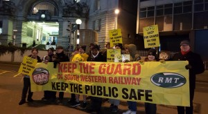 RMT Waterloo picket January 8 anti-DOO strike