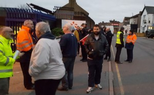 EDF Bexleyheath picket January 28