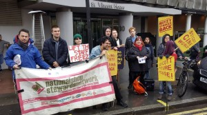 Feb 19 strike protest outside Picturehouse HQ