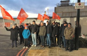 Woolwich Crossrail picket February 7th