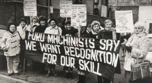 Striking women machinists at Ford Dagenham 1968