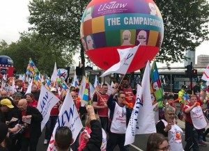 USDAW TUC demo May 12 2018